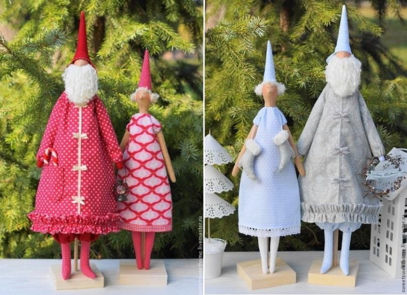 Дед Мороз и Снегурочка выкройки сшить
