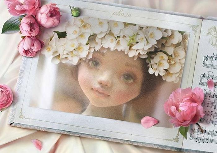 Лицо куклы Неженки Елены Негороженко