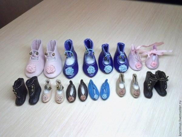 мк маленькая обувь для кукол