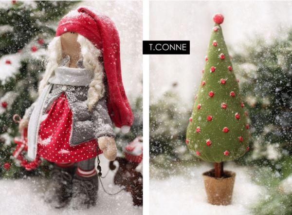 Новогодние куклы Татьяны Коннэ