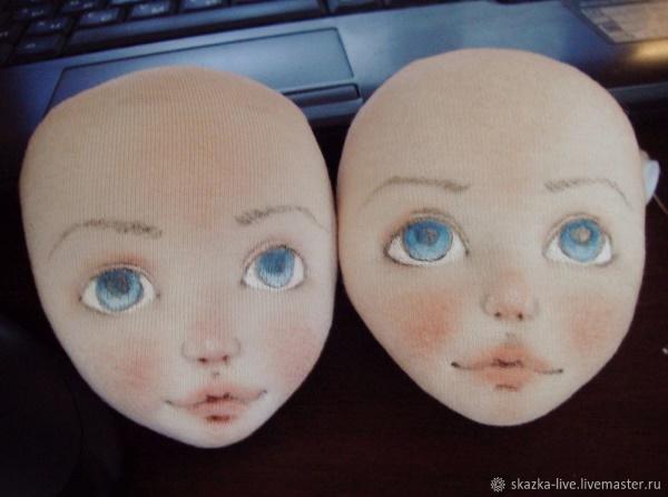 из чего можно сделать лицо куклы