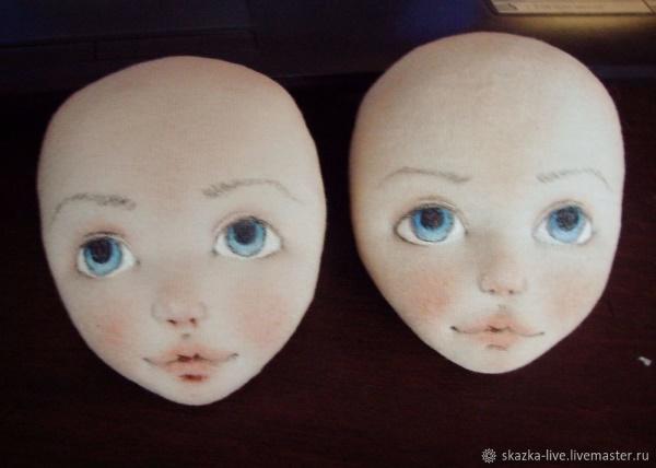 трафареты для лица куклы