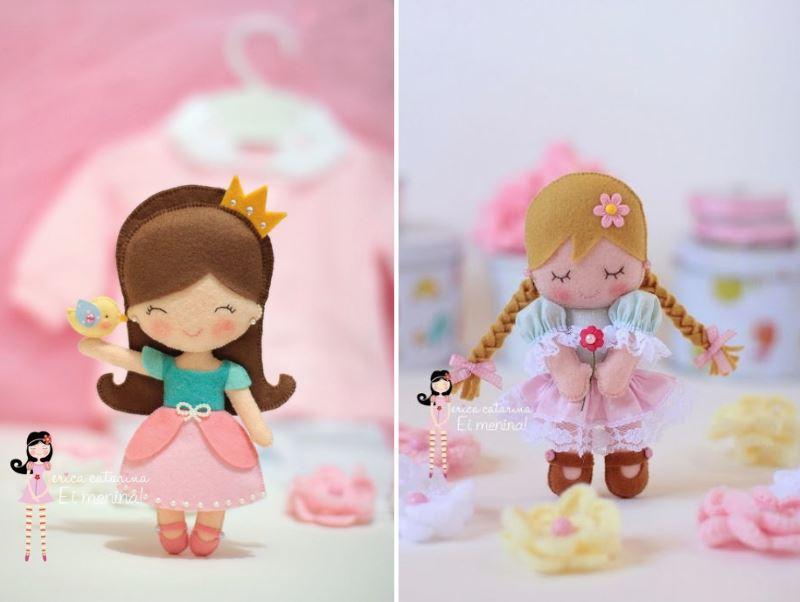 Куколки из флиса и фетра