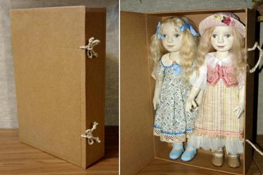 Коробка в эко-стиле для куклы