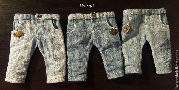 стильные джинсы для куклы