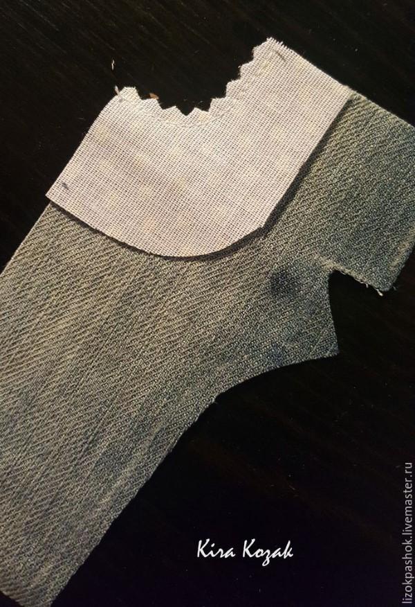 выкройка джинсов для кукол