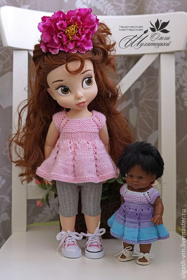 вязаная туника для куклы