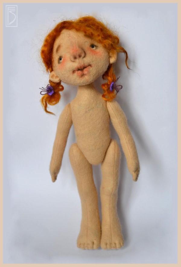 МК кукла из фетра