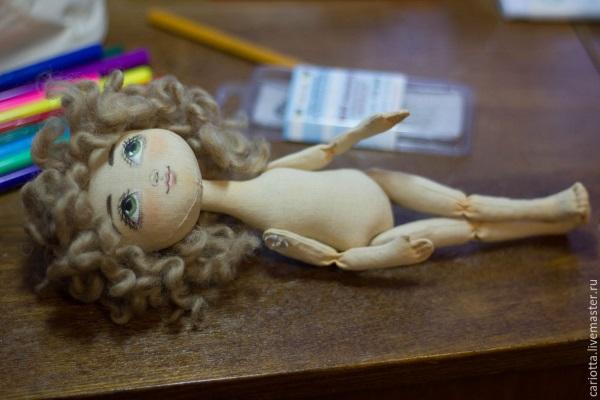 кукла ангел из ткани