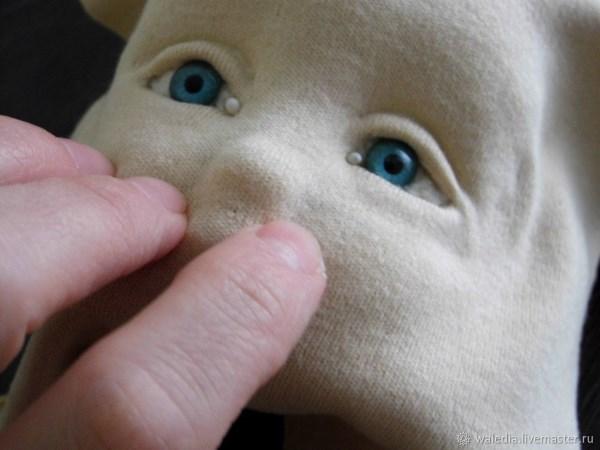 как сделать объемное лицо кукле