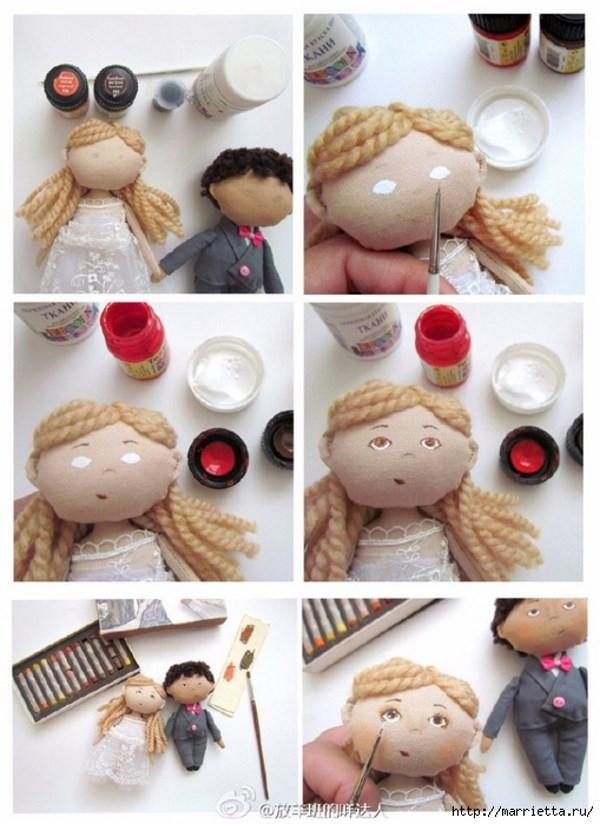 как сделать куклу на свадьбу