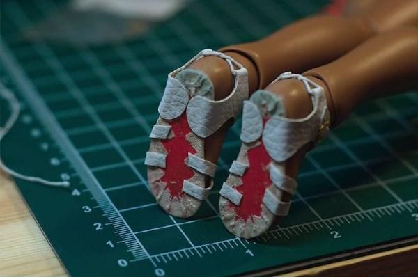 выкройка сандаликов