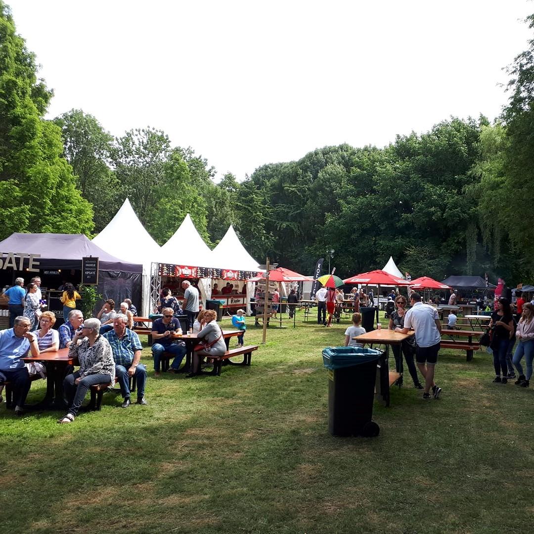 Vlak na de opening  van Picknick in 't Park in 2018