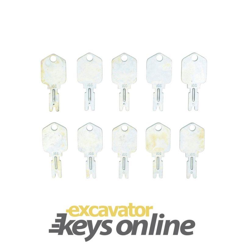 New 10 Mustang 166 Key, Excavator Grader Dozer Mustang