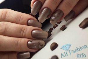 ногти коричневого цвета дизайн фото 5
