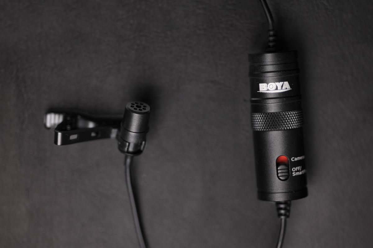 All Geared Up boya-by-m1-dark Get Better Audio With The Multi Functional BOYA BY-M1 Lavalier Microphone audio hardware video  sound microphone review microphone lavalier mic lav mic gear review audio