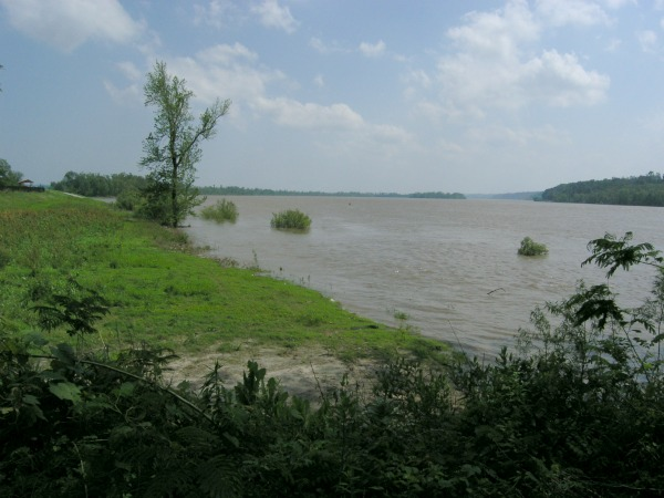Mississippi River flooding, Grand Tower, Illinois