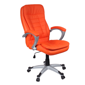 orange office chair geologic fishing presidential leather with arm support ais 20