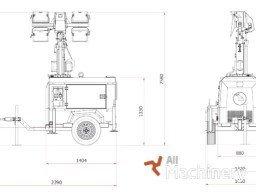 LUXTOWER M10 Priekabos tipo šviestuvai 138 all-machinery