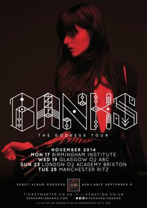 BANKS UK tour