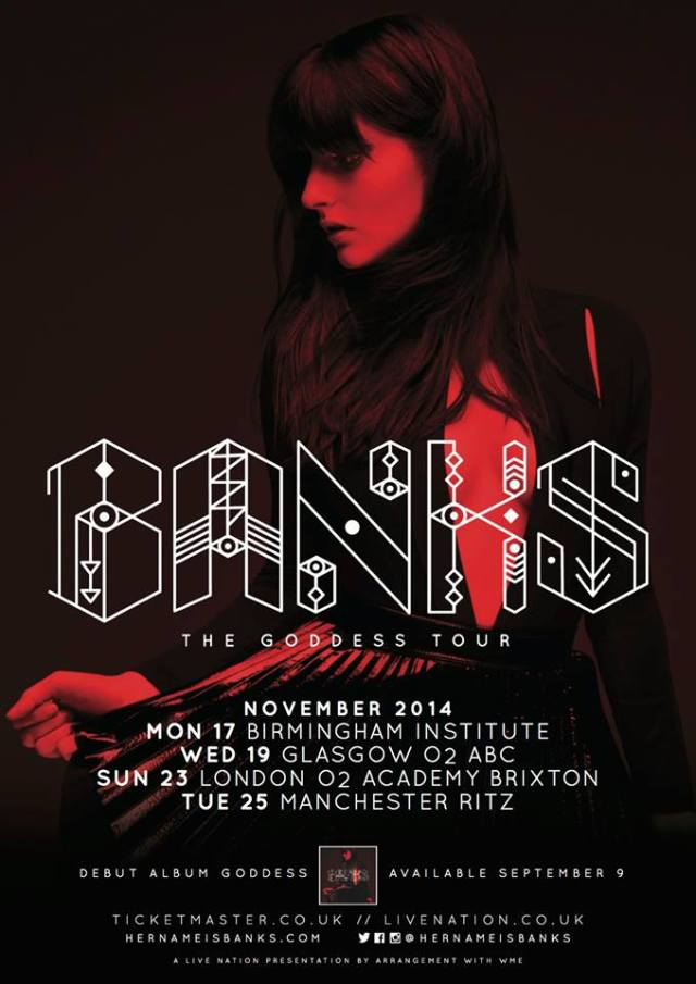 BANKS UK tour
