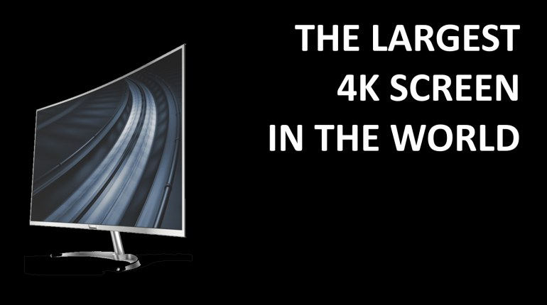 Philips Largest 4K Screen