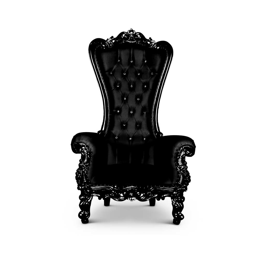 King And Queen Throne Chairs For Rent Throne Chair Queen Chair Black Black
