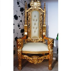 Chair Cover King York On The Company Throne With Gold Lion