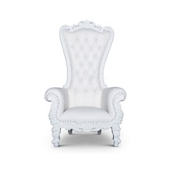 Throne Chair Cover Office Chairs With Arms Queen White