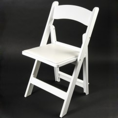 White Folding Chairs Ergonomic Chair Meaning Wood Resin With Padded Seat