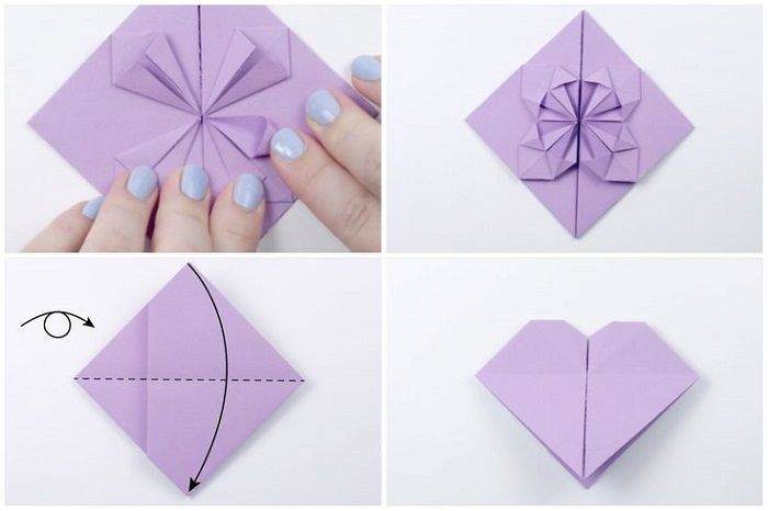 Καρδιά με λουλούδι χαρτιού: Βήματα 21-24