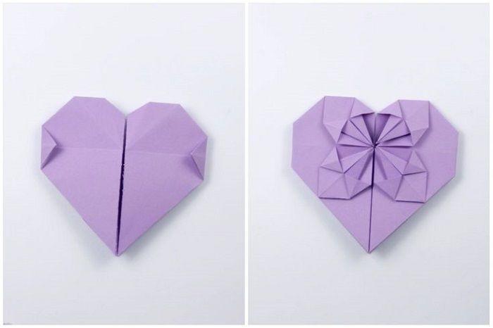 Καρδιά με λουλούδι χαρτιού