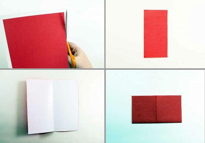 Καρδιά origami με φτερά: Βήματα 1-4