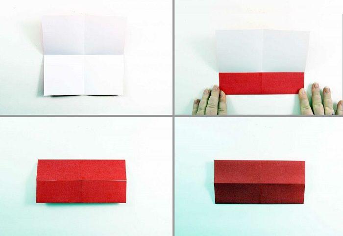 Καρδιά origami με φτερά: Βήματα 5-8