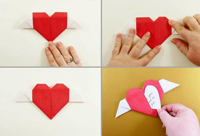Καρδιά-origami με φτερά: Βήματα 17-20