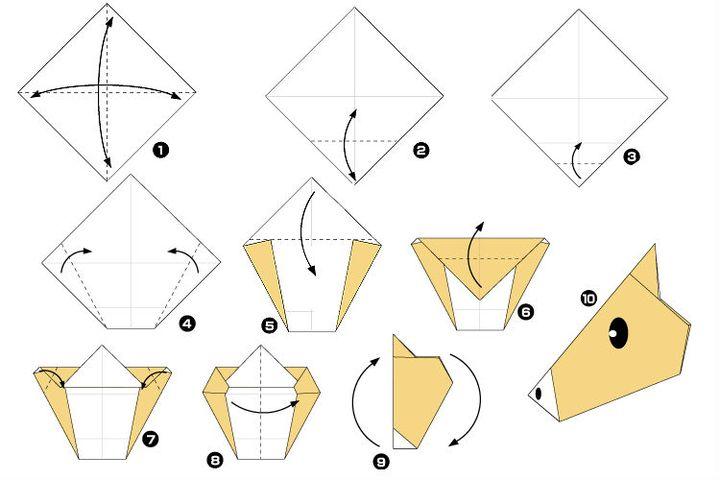 Фазалық құрастыру аттар оригами