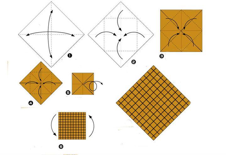 Мастер-класс по сборке подсолнуха-оригами