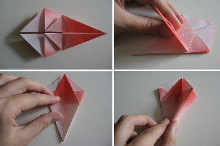 Мастер-класс по сборке лилии-оригами