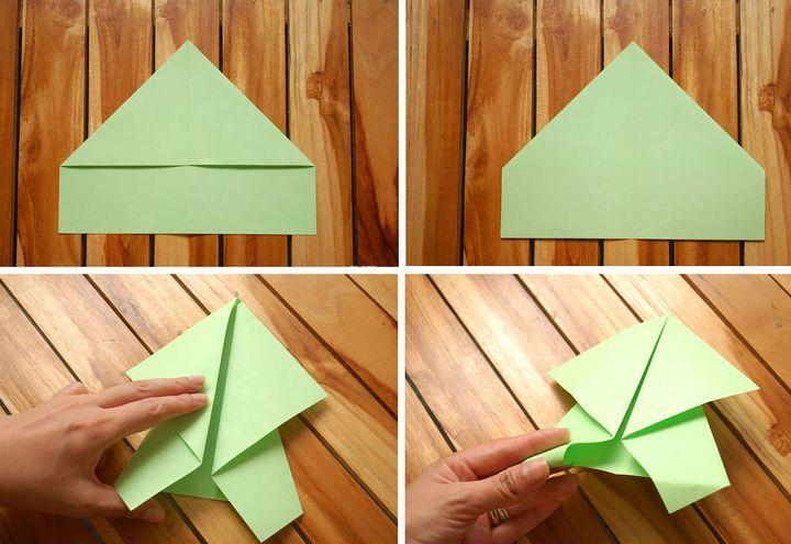 Қарапайым модель оригами-тасбақа №2