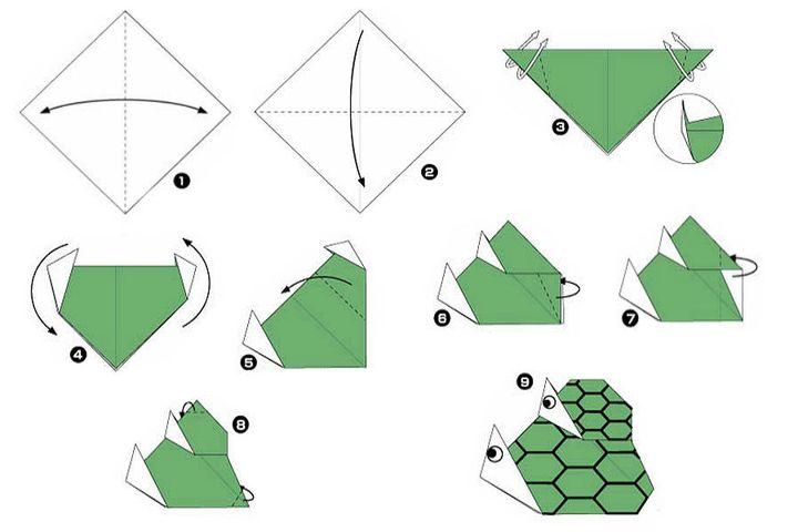 Оригами-тасбақа қағазы