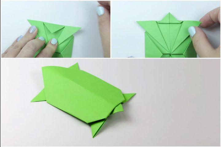 Қарапайым модель оригами-тасбақа