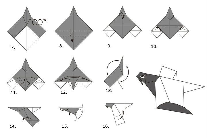 کلاس کارشناسی ارشد در تولید یک مدل ساده از پرواز اریگامی-عقاب