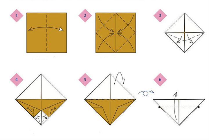 کلاس کارشناسی ارشد در تولید عقاب سفید سفید در تکنیک Origami