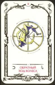Таро теней карта Обратный ход колеса