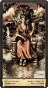 Королева Чаш Таро Черный Гримуар