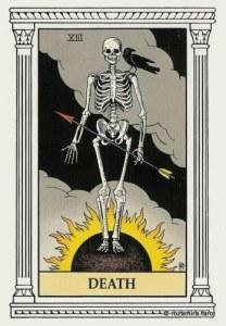 Алхимическое Таро старший аркан Смерть