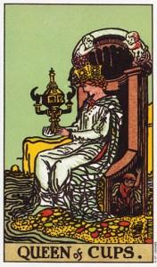 Трактовка карты Таро Королева Кубков