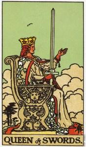 Трактовка карты Таро Королева Мечей