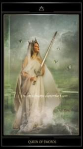 Таро Телема карта Королева Мечей