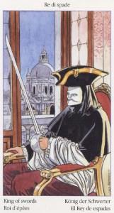 Таро Казановы изображение карты Король Мечей